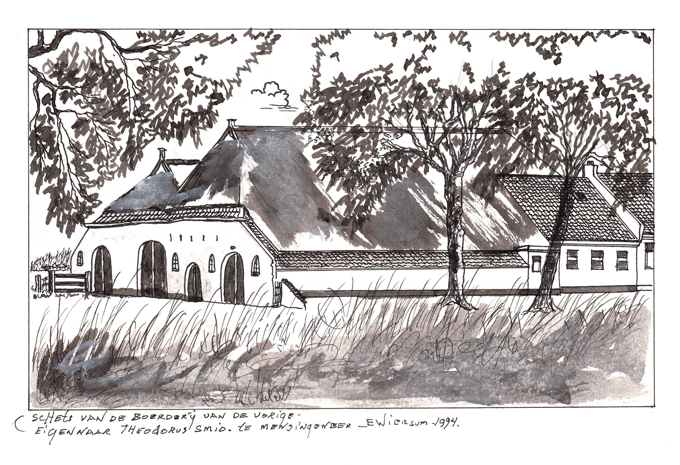 Pentekening van Eddy Wiersum